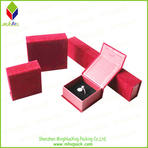Luxury Jewelry Packing Paper Gift Box with Button