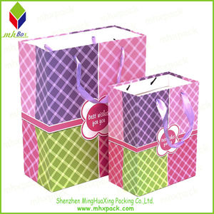 Special Design Paper Shopping Bag with Silk Handle