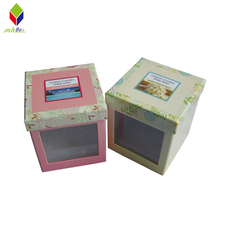 Custom Square Lid and Base Box Candle Gift Packaigng Box