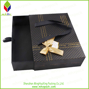 Colored Paper Cosmetic Packaging Box with Slide Open