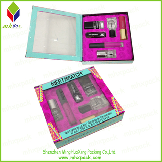 folding cosmetic paper gift box with window