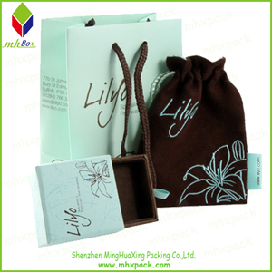Elegant Set Cosmetic Packaging Paper Carrier Bag