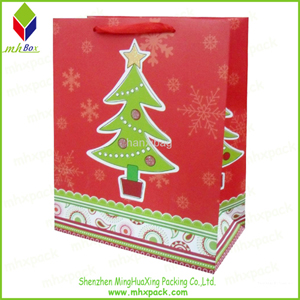 Christmas Tree Printing Shopping Paper Bag