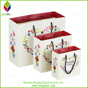 Wedding Paper Gift Bag with Cotton Handle