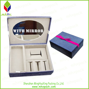 Elegant Madeup Cosmetic Packaging Folding Box with Mirror