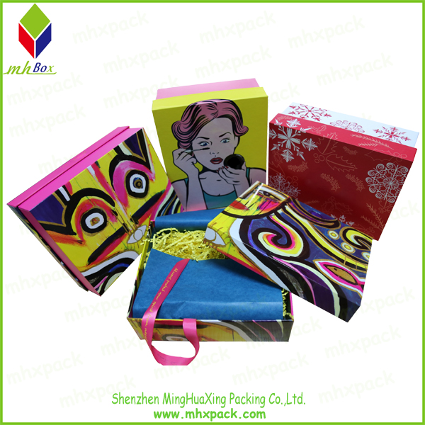 cosmetic lid and base paper gift box