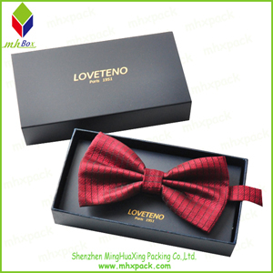 Gold Foil Paper Packaging Folding Box for Bow Tie