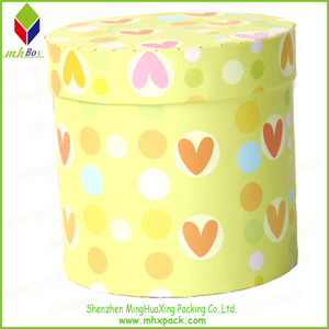 Strong Colorful Candy packaging Paper Round Box