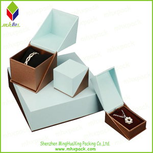 silver Printing Paper Gift Jewelry Box