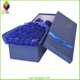 Custom Luxury Rectangle Rose Flower Paper Cardboard Gift Box