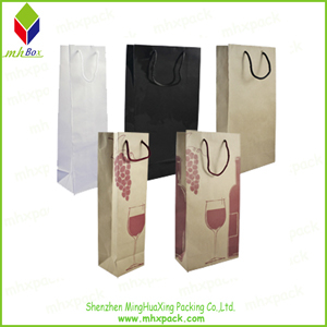 Kraft Paper packing Gift Wine Bag